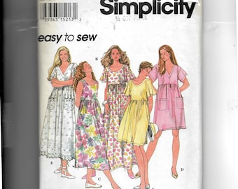 Simplicity Misses' Pullover Dress In Three Lengths Pattern 8923