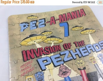 ECLIPSE SALE- Vintage Pez Puzzle-Invasion of Pezheads-1997-Pezmania
