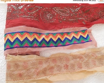 CLEARANCE - 3 wide embellished fabric trims