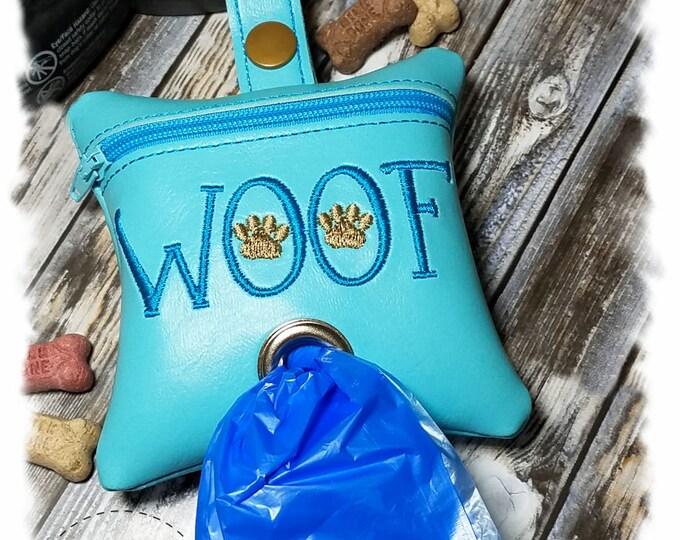 Dog Poop Bag Holder, Dog Poop Bag Dispenser, Waste Bag Holder, Leash Dispenser,Zipper Bag, Leash Accessory, Zipper Pouch, Dog Duty Bag