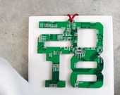 Christmas 2018 Ornament, Circuit Board Ornament, Computer Programmer, Software Engineer, Computer Science Gift, Christmas Ornament, Techie