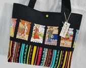 Day of the Dead Calavera Skeletons Cartas Marcadas purse tote bag handbag