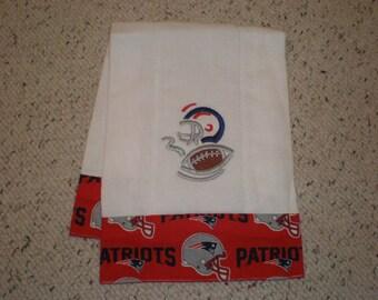 New England Patriots Baby Burp Cloth