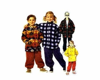 SALE 1990s Girls Boys Jacket Top Pants McCalls 7378 Sewing Pattern Size 4 - 5 - 6 Uncut