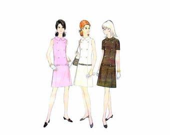 SALE 1960s Misses Sleeveless Shift Dress McCalls 9141 Vintage Sewing Pattern Size 12 Bust 34 Uncut