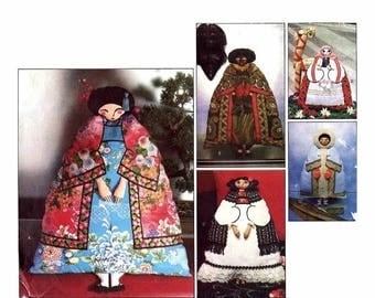 SALE New World of Dolls Japanese Polish Mexican Indian African Eskimo Dolls Vogue 1771 Vintage Sewing Pattern UNCUT