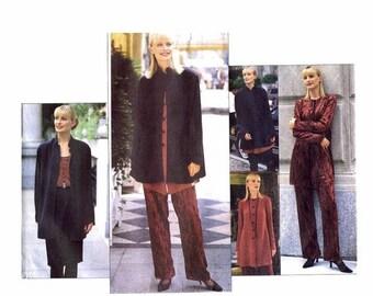 SALE 1990s Misses Jacket Tunic Camisole Skirt Pants Vogue 1517 Vintage Sewing Pattern Size 12 - 14 - 16 Bust 34 - 36 - 38 UNCUT