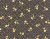 Pepper and Flax - Daisy Days in Pepper Black: sku 29041-14 cotton quilting fabric by Corey Yoder for Moda Fabrics