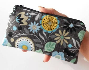 Zipper Pouch for Phone Large Cosmetic Zipper Pouch ECO Friendly Padded NEW SIZE Bohemia Floral