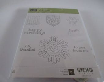 Stampin Up stamp set, Set of 8, So Very Happy, scrap booking, card making, paper crafting, kids crafts, be creative