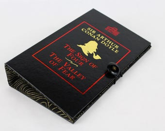 Clutch Purse -Sherlock Holmes - made from recycled vintage book by Rebound Designs