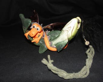 I caught a Fish Dragon - OOAK ELEMENTAL DRAGON