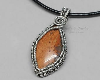 SALE - Sterling Silver and Agate Pendant Necklace