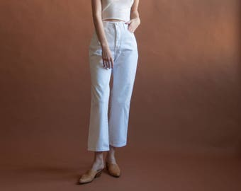 LEE white cropped jeans / cropped straight leg denim / vtg white jeans / 30 W / 2364t / B10