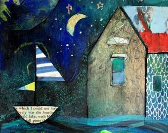 Lakeside -- Original Mixed Media Painting