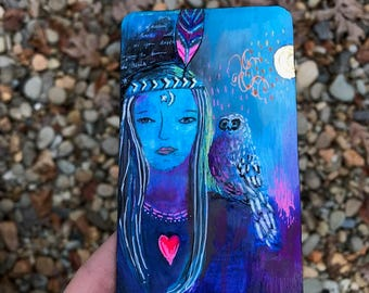Storyteller - Hand Painted Wooden Oracle Card