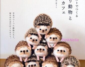 Wool Needle Felting Animals and House Cafe -   Japanese Craft Book
