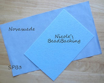 Novasuede Microfibor Fabric with Free Nicoles BeadBacking Sky & Powder Blue SPB3