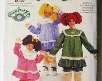 30% OFF SALE 1980s Sewing Pattern Butterick 6919 Girls Cabbage Patch Costume Pattern Soft Sculpture Legs Hand Size L Uncut