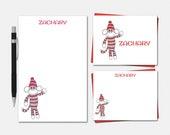 Sock Monkey Stationery Se...