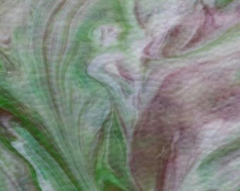 Purple, Green and White Glass Shards for Mosaic Art Designing