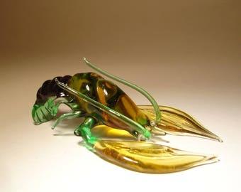 Handmade Blown Glass Figurine Art Sea Creature Crayfish Lobster
