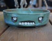 Hand-thrown ceramic Zombie bonsai pot