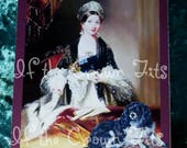Queen Victoria/DASH/Cavalier King Charles Spaniel Original Digital Collage/Blank Card