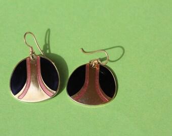 VINTAGE Laurel Burch dangle pierced earrings