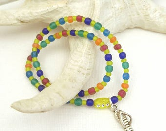 beachy anklets, beaded anklets, beaded ankle bracelet, anklets for women, ocean anklet, beach anklets, handmade jewelry jewellery, Canadian