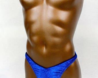 ON SALE Royal Blue Glittery Posing Trunks