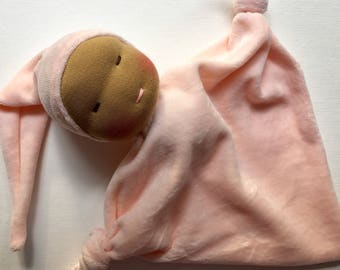 Little Pink baby Waldorf doll, blanket doll first doll, baby shower gift, newborn Waldorf toy