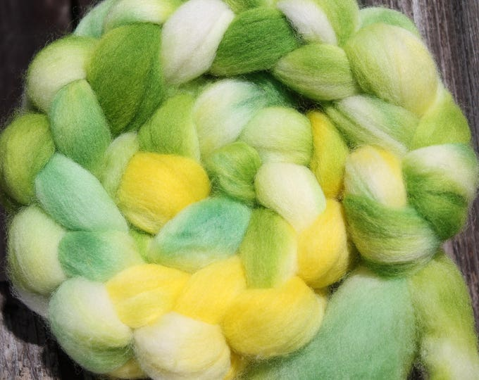 Kettle Dyed Falkland Wool Top.  Soft and easy to spin. 4oz  Braid. Spin. Felt. Roving. F178