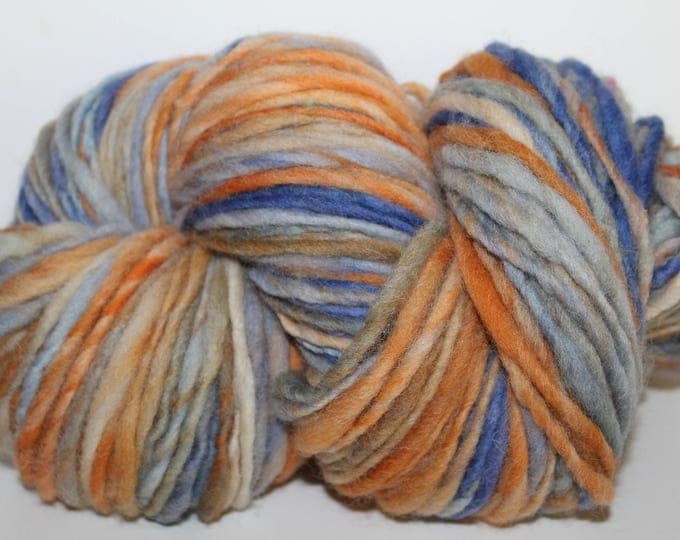 Hand spun Cheviot Wool. Single ply. Hvy Worsted weight. 1/2lb/256 yards. Knit.