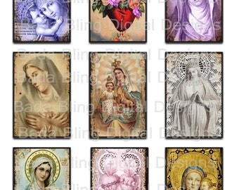 2 x 3, Altered Art Religious Images,  INSTANT DOWNLOAD at Checkout,religious collage sheets, Catholic images,perfect for shrines,alters etc.