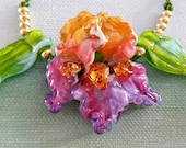 Aurora Iris Sculptural Bead Set by Helen's Harvest