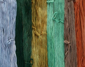 September Harvest set of 6 one ounce skeins worsted weight wool total 330yds 302m