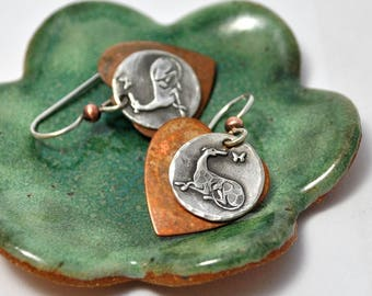 Hurt No Living Thing Earrings- Greyhound - Poetry - Greyhound Jewelry - Greyhound - Galgo- Whippet - Italian Greyhound - Greyhound Earrings
