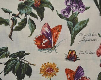 Alexander Henry fabric vintage A Henry garden fabric floral fabric botanical fabric narcissus gifts for gardeners garden party decor