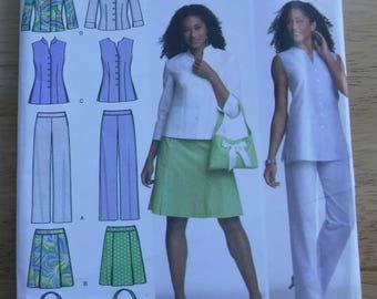Separates sewing pattern, Pants, Jacket, vest, Skirt sewing pattern, Simplicity sewing pattern NEW uncut misses KK sizes 8 10 12 14