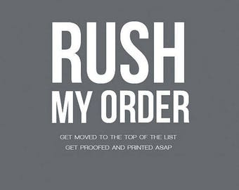 RUSH my ORDER - Fast turnaround for gifts - Procrastinators' Friend -  Gets your gift in a hurry - Help