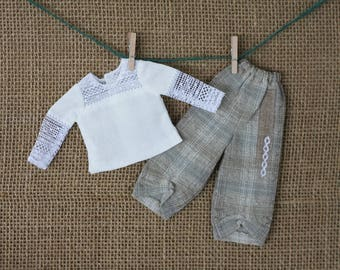 Henbane Blouse and Pants set for Blythe Doll