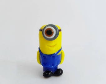 Karl the Good Minion Glass Lampwork Bead