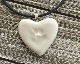 Angel Paw Memorial Porcelain Pendant 2