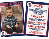 Custom 2-sided Rookie Year Thank you digital file