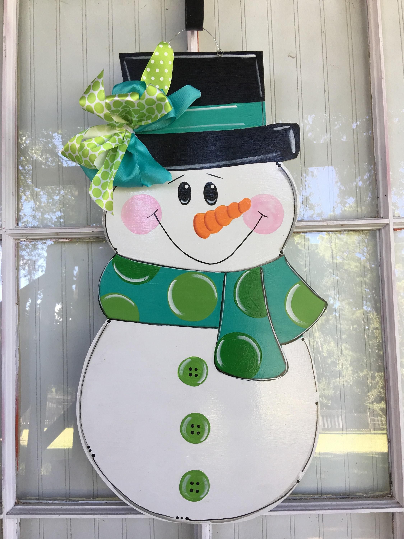 Front Door Decor Snowman Door Hanger Door Decorations