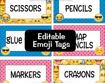 Edibtable Emoji Tags - for Classroom, Teacher, or Party