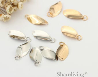 30pcs High Quality Golden / Silver Leaf Charm / Connector With Jumpring