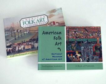 Folk Art Postcard Books, Fine Art Reproductions, Running Press, Colorful Art Cards, American Folk Art, Colonial, Outsider Art, Sculpture