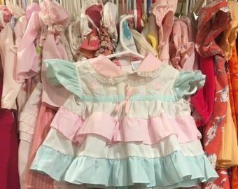 80s Ruffle Dress 6/9 Months